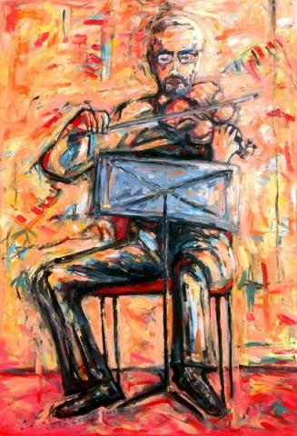 Hegedűs/ Violinista/ Violinist