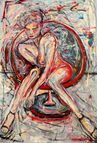 Széken ülő akt I/ Akt koja sedi na stolici I/ Chair seated nude I
