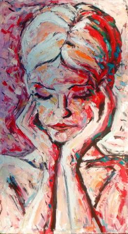 Szomorú női arc/ Tužno žensko lice/ Women's sad face