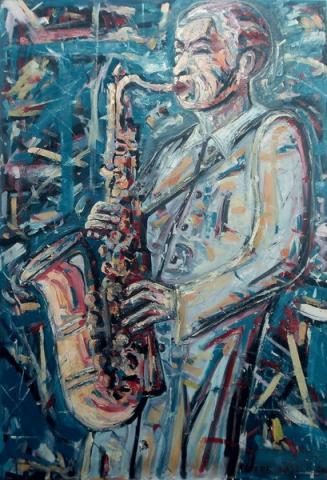 Szaxofonista/ Saxofonista/ Saxophonist