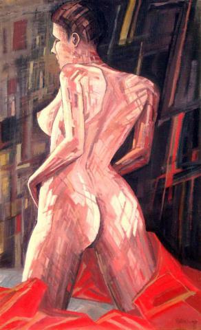 Térdelő akt/ Akt na kolena/ Kneeling nude